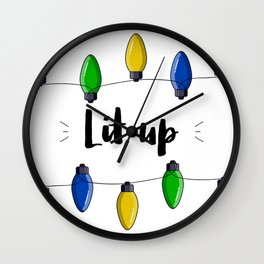 A Christmas Lit up situation Wall Clock