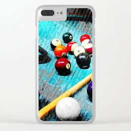 Billiard art and pool artwork 5 Clear iPhone Case
