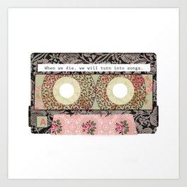 Floral Cassette Tape Art Print