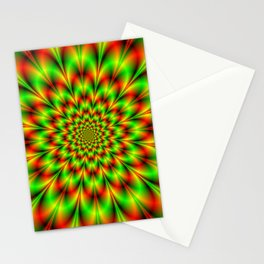 Rosette in Green and Red Stationery Cards