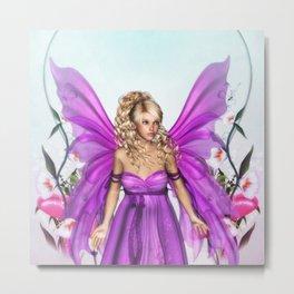 Fairy Queen Diane Flower Garden Metal Print