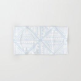 Simply Tribal Tile in Sky Blue on Lunar Gray Hand & Bath Towel