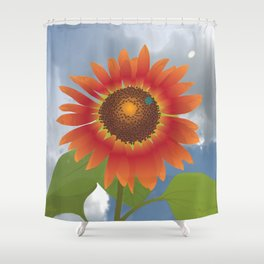 Drop Dead Red Shower Curtain