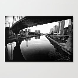 Sao Paulo Black And White Canvas Print
