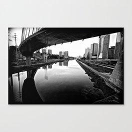 Sao Paulo Black And White Canvas Print