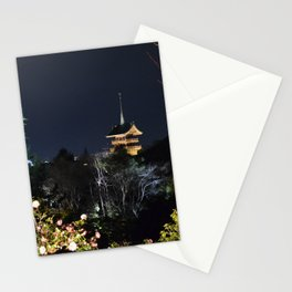 Night Temple in Kyoto Stationery Cards