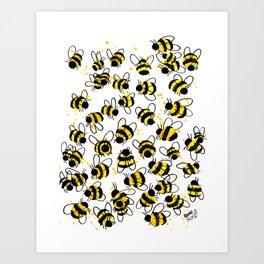 Bumble Bees Art Print