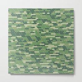 Light green brick wall pattern Metal Print