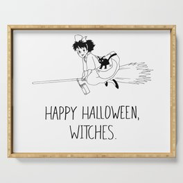 Happy Halloween, Witches! Serving Tray