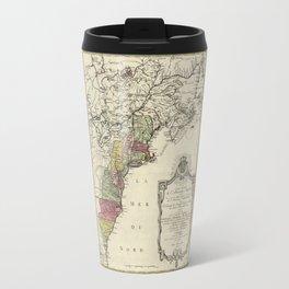 Colonial America Map by Matthaus Lotter (1776) Travel Mug