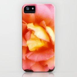 Light Orange and Pink Rose iPhone Case