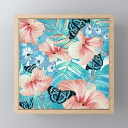 Tropical Spring Aqua Framed Mini Art Print