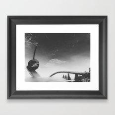 spoon + cherry Framed Art Print