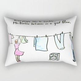 Comic Laundry Rude Joke Good Blow Rectangular Pillow