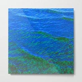 Waves Blue-Green DPG160608h Metal Print