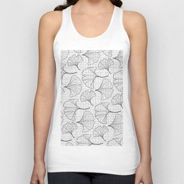 grid in black and petals Unisex Tank Top