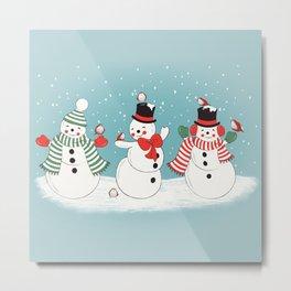 Snowman Winter Wonderland Metal Print