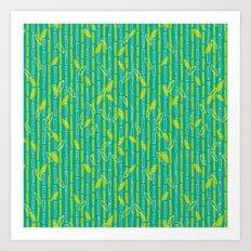 Bamboo Pattern Art Print
