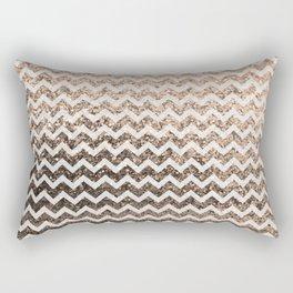 Glitter Sparkly Bling Chevron Pattern (champagne) Rectangular Pillow