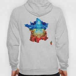 France - European Map by Sharon Cummings Hoody