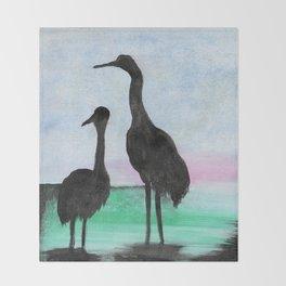 Herons on the Bay Throw Blanket
