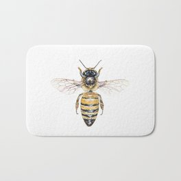 Apis mellifera, the banded muse Bath Mat