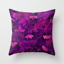 Watercolor Tardigrade Illustration Throw Pillow
