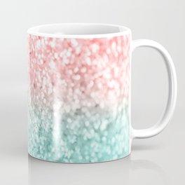 Summer Vibes Glitter #3 #coral #mint #shiny #decor #art #society6 Coffee Mug