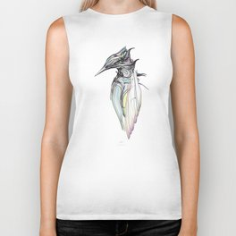 Kingfisher 1h. Full color plus black borders with white background-(Red eyes series) Biker Tank