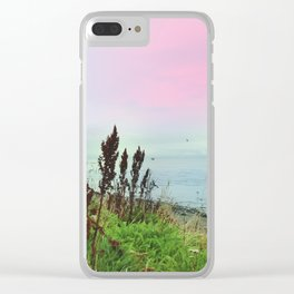 Pastel vibes 64 Clear iPhone Case
