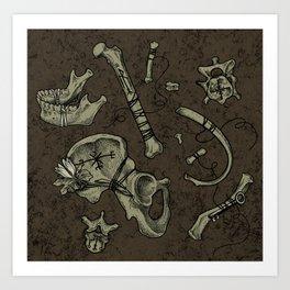 Dem Bones Art Print