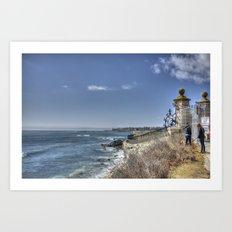 The Cliff Walk- Newport, RI Art Print