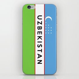 flag of Uzbekistan iPhone Skin
