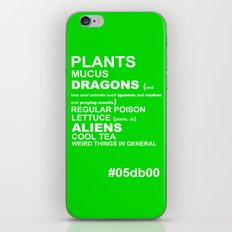 GREEN iPhone & iPod Skin