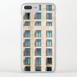 Modern Architecture building facade , Berlin, Germany Clear iPhone Case