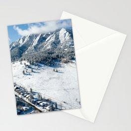 Snowy Flatirons Aerial Stationery Cards