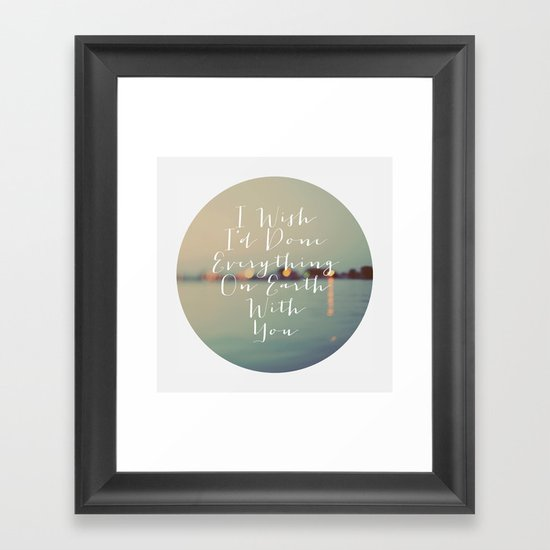 Everything On Earth Framed Art Print