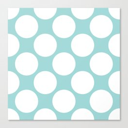 Polka Dots Blue Canvas Print
