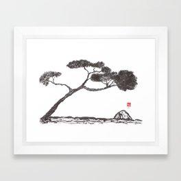 Tree and Stone Framed Art Print