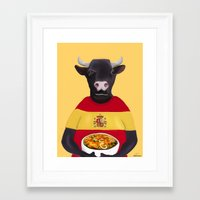 spanish Framed Art Prints featuring The Spanish by Dano77