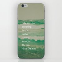 the cure iPhone & iPod Skins featuring Salt Water Cure by Olivia Joy StClaire