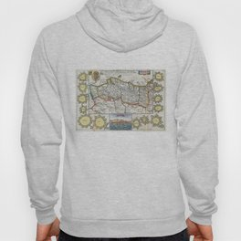 Vintage Map of Portugal (1747) Hoody