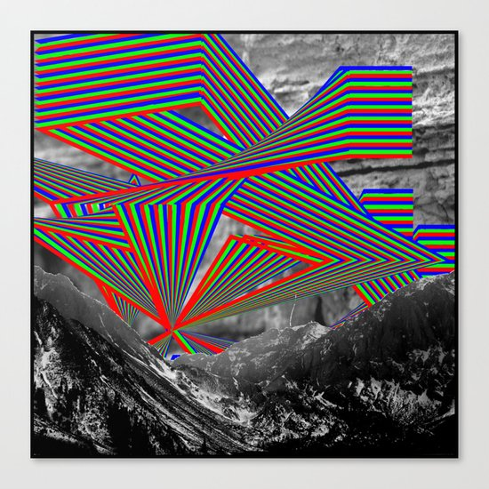 Sky and Mountains Canvas Print
