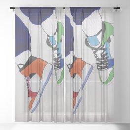Trendy Sneaker Jordan Sheer Curtain