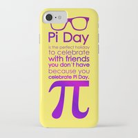 pi iPhone & iPod Cases featuring Pi Day by Square Lemon