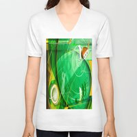 golf V-neck T-shirts featuring Golf Anyone? by Robin Curtiss