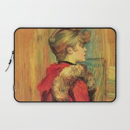 "Henri de Toulouse-Lautrec ""Girl in a Fur (Miss Jeanne Fountain)"" Laptop Sleeve"