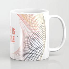 Pink Abstract typography Love cute Coffee Mug