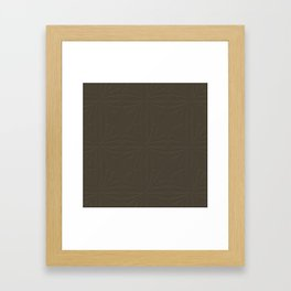 Deep Bronze Taupe Framed Art Print