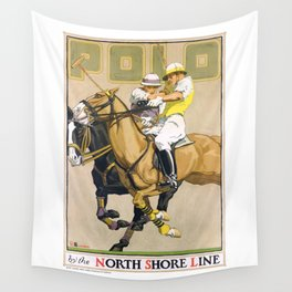 1923 Polo By The North Shore Line Transit Poster Wall Tapestry